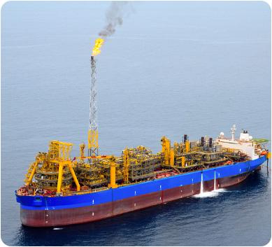 Oil transport boat in the ocean